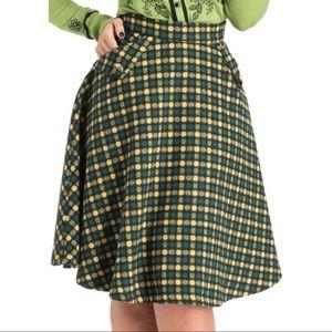 Voodoo Vixen Virgie Ruth A-line dots skirt